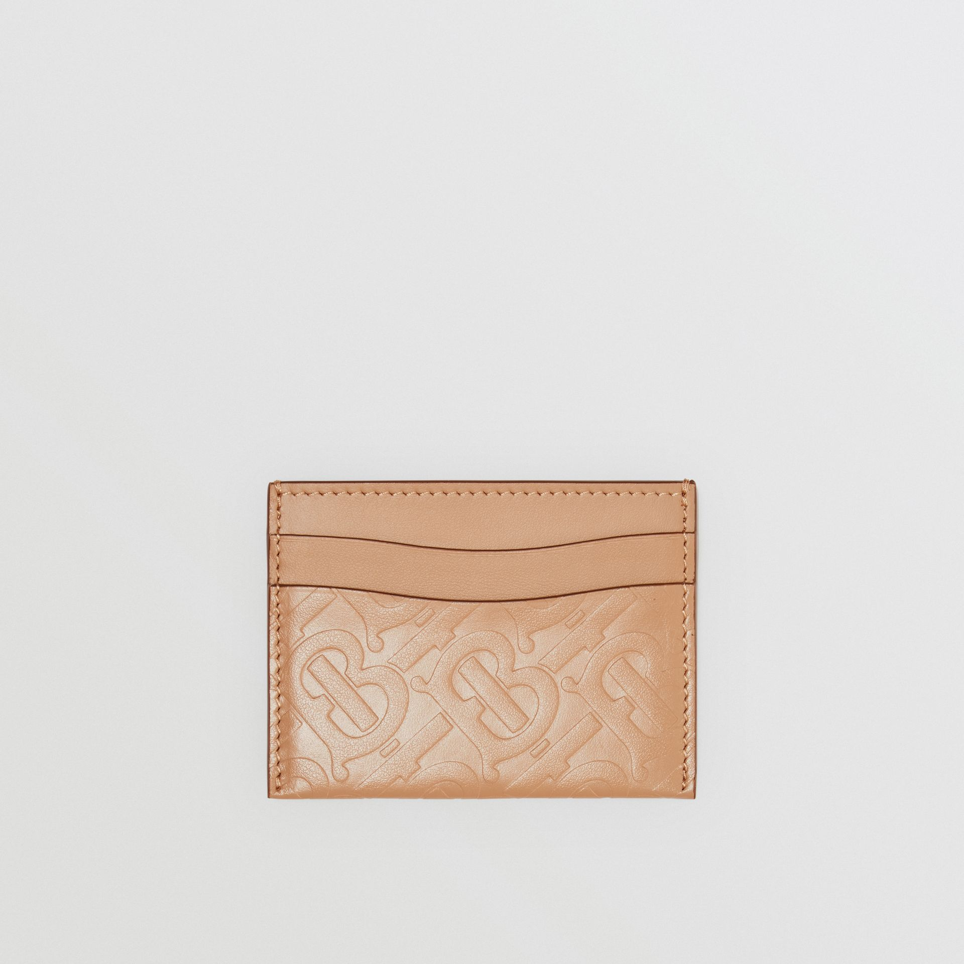 Porte-cartes en cuir Monogram (Camel Clair) - Femme | Burberry - photo de la galerie 0