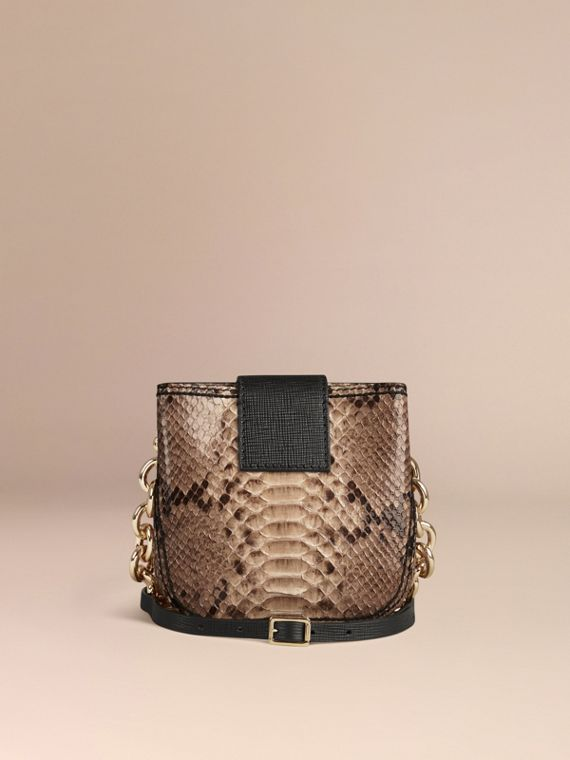 The Small Square Buckle Bag in Python Limited Edition - cell image 3