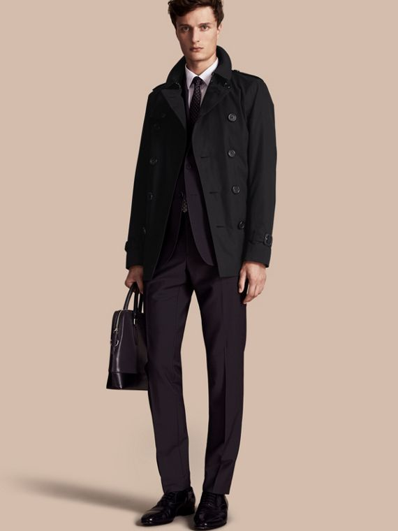 The Sandringham – Trench-coat Heritage court Noir