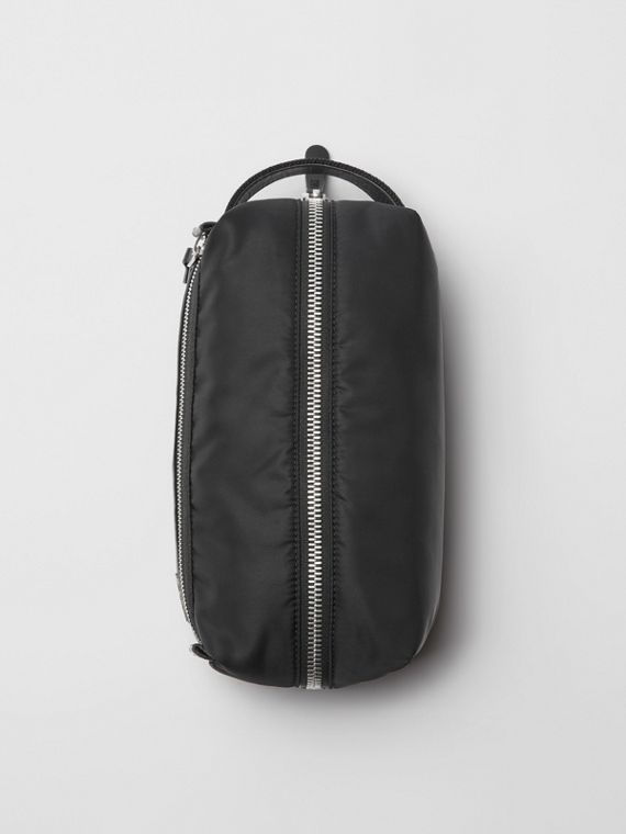 EKD Aviator Nylon and Leather Pouch in Black