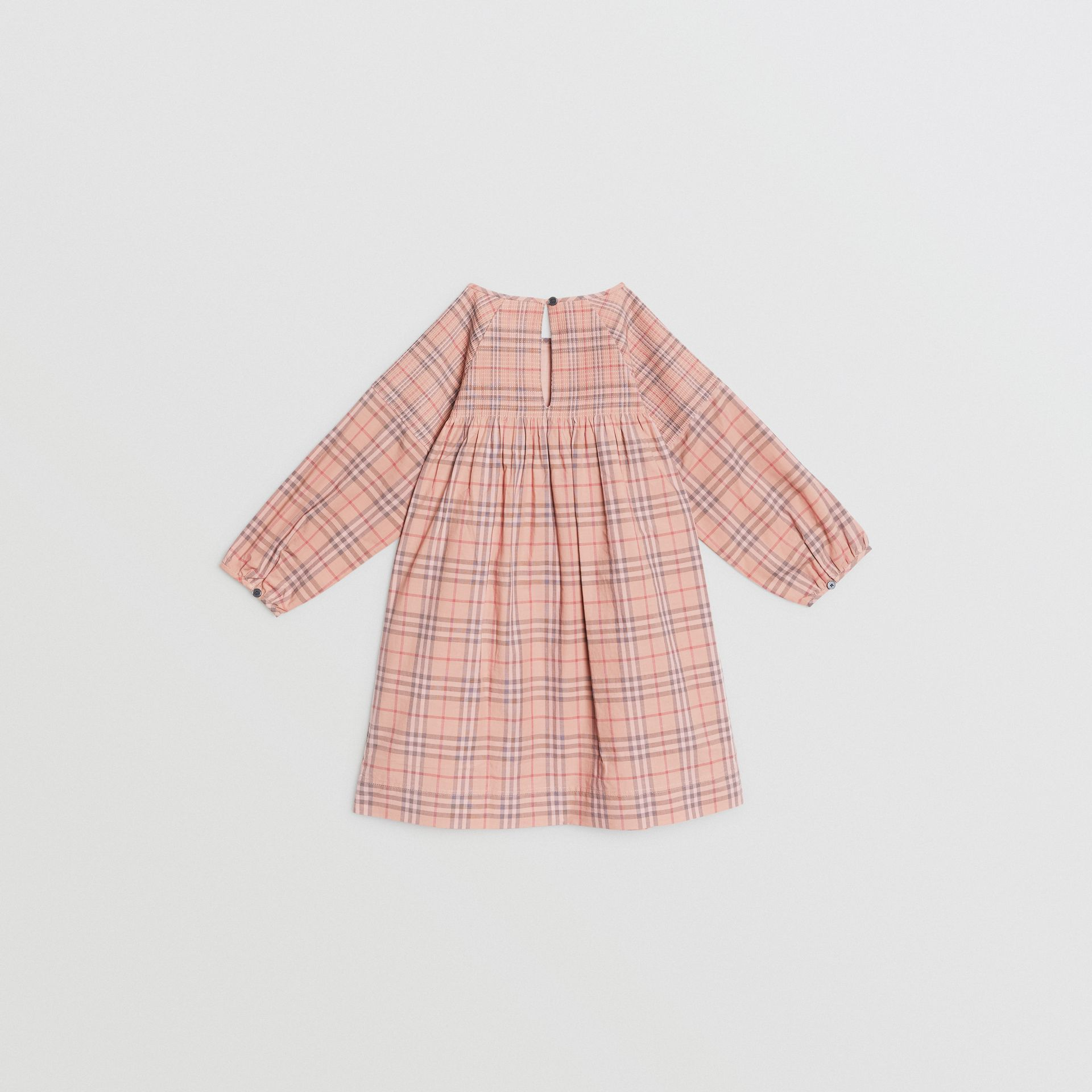 Check Cotton Poplin Dress in Pale Pink | Burberry United Kingdom - gallery image 3