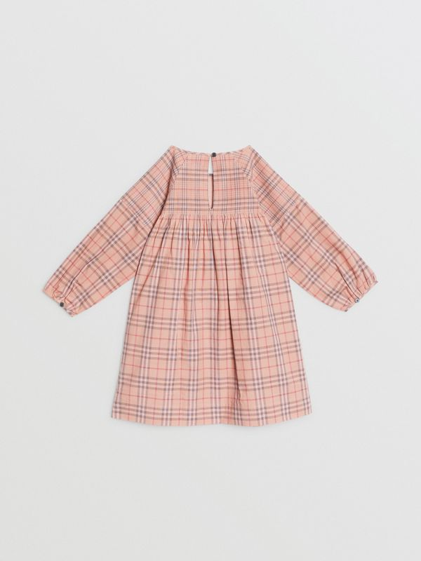 Check Cotton Poplin Dress in Pale Pink | Burberry - cell image 3