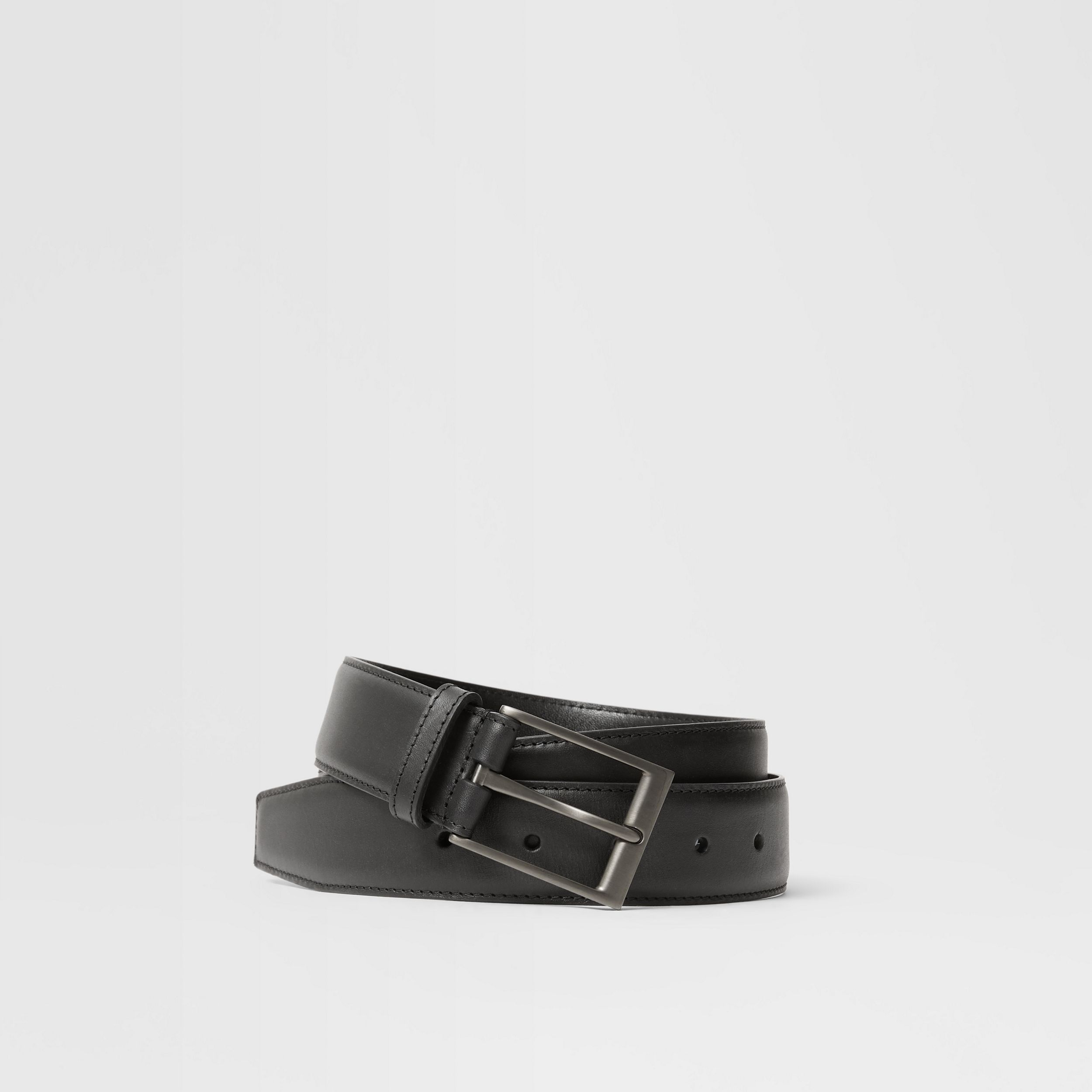 Leather Belt in Black - Men | Burberry Australia - 1