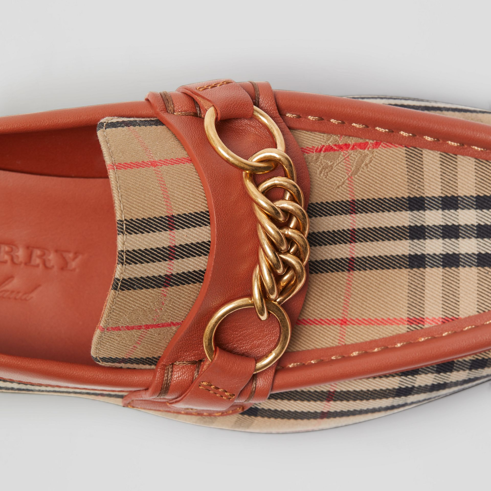 The 1983 Check Link Loafer in Brick Red - Women | Burberry - gallery image 1