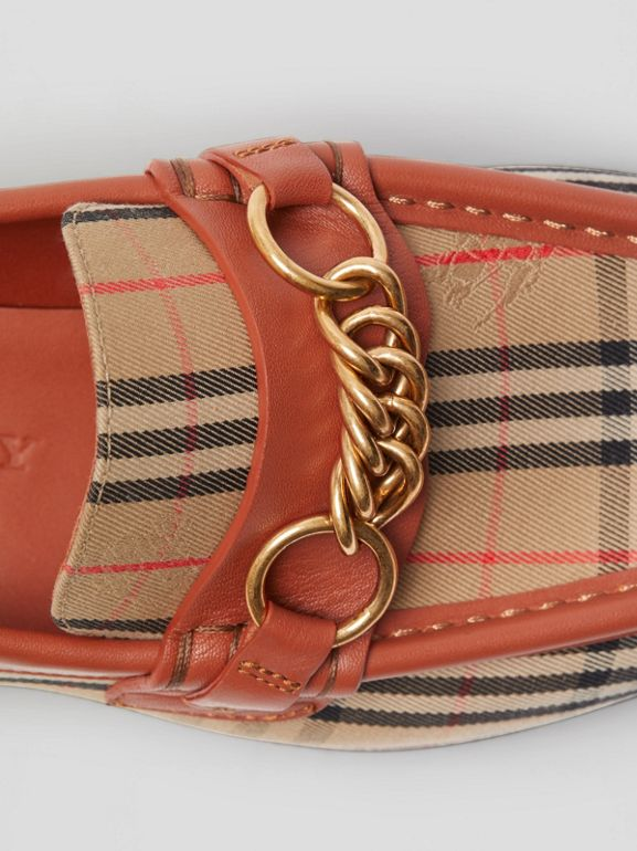 Mocassins The Link à motif check de 1983 (Rouge Brique) - Femme | Burberry - cell image 1