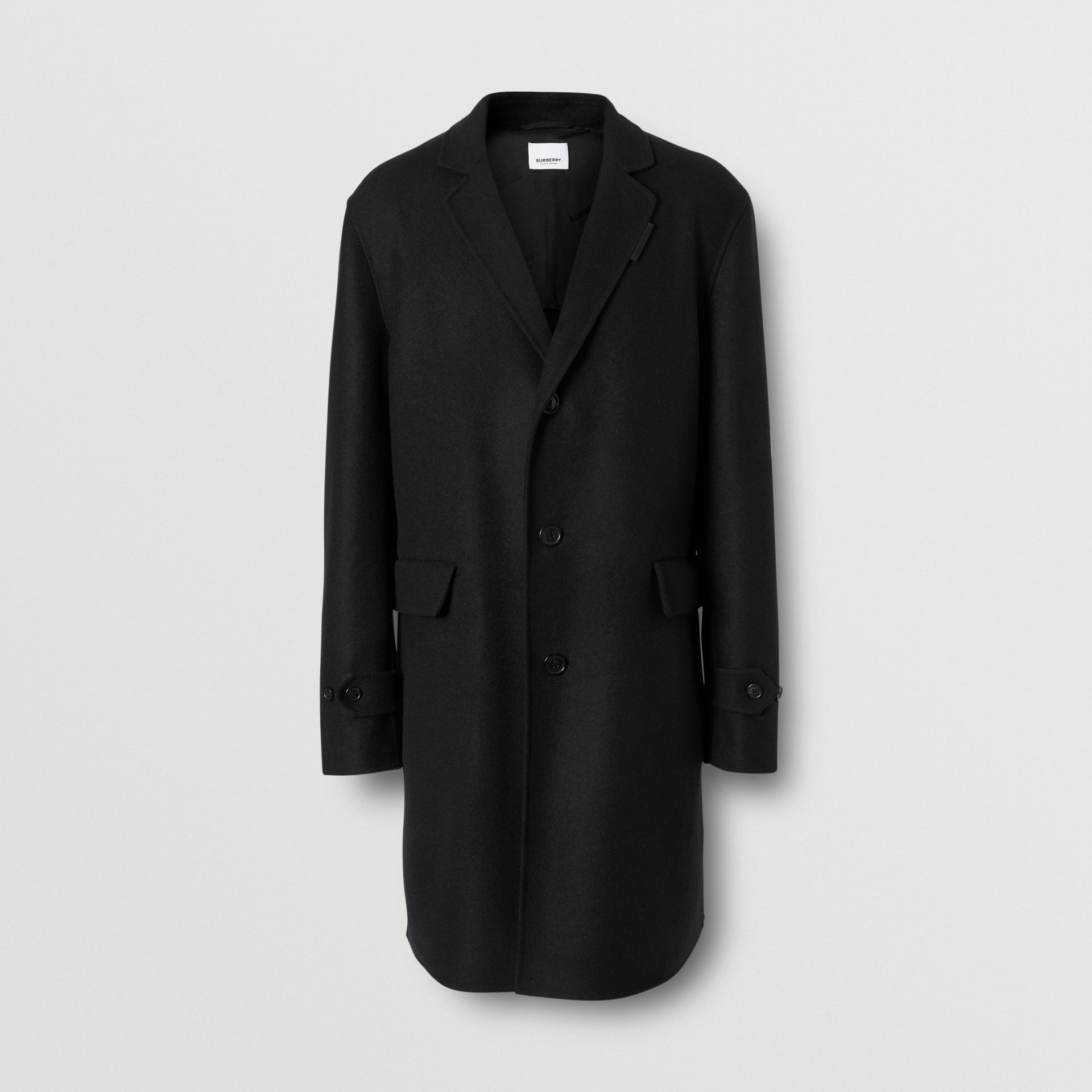 Wool Cashmere Lab Coat in Black - Men | Burberry - gallery image 2
