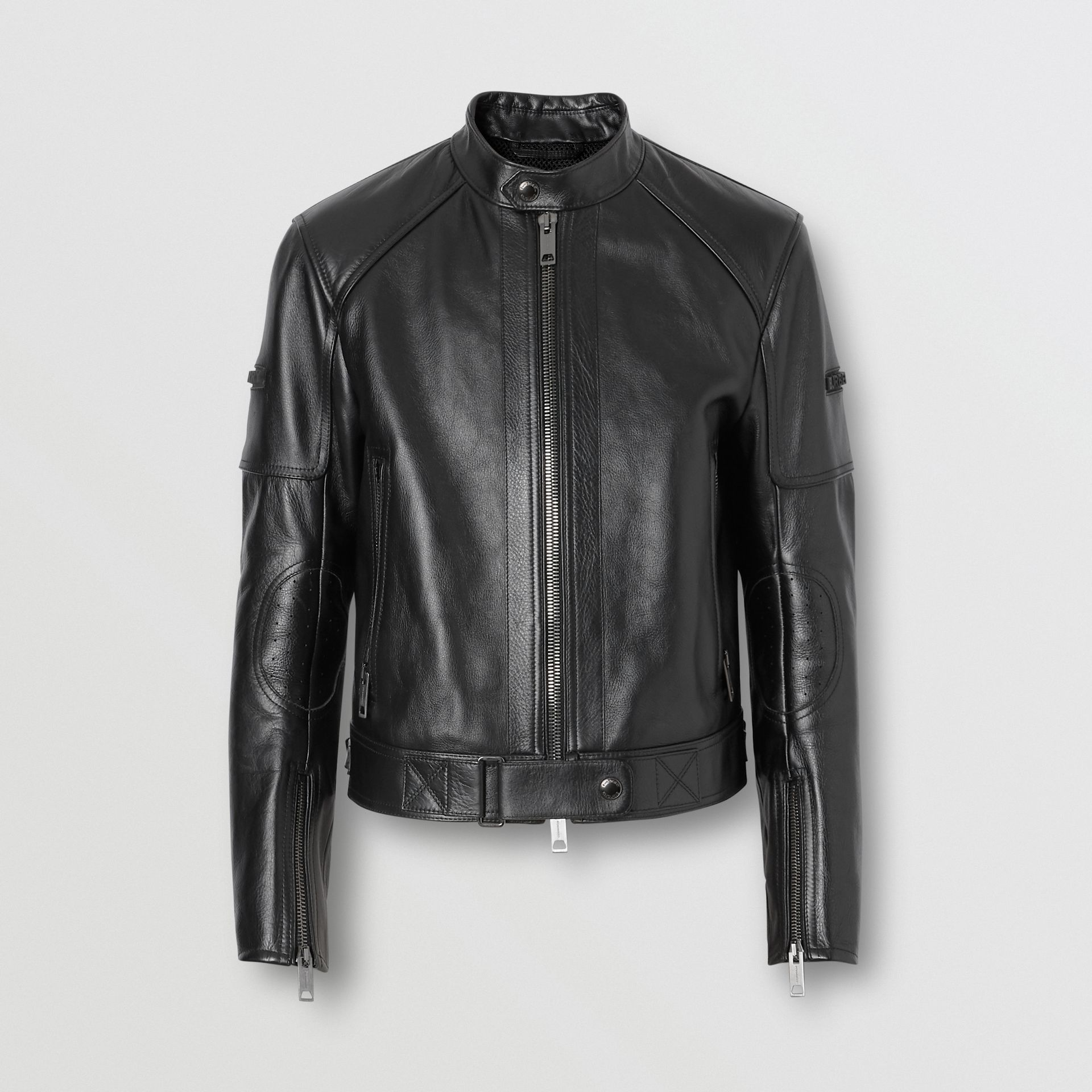 Leather Bomber Jacket in Black - Men | Burberry Singapore - gallery image 3