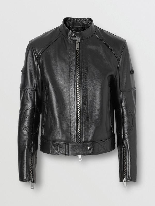 Leather Bomber Jacket in Black - Men | Burberry United Kingdom - cell image 3