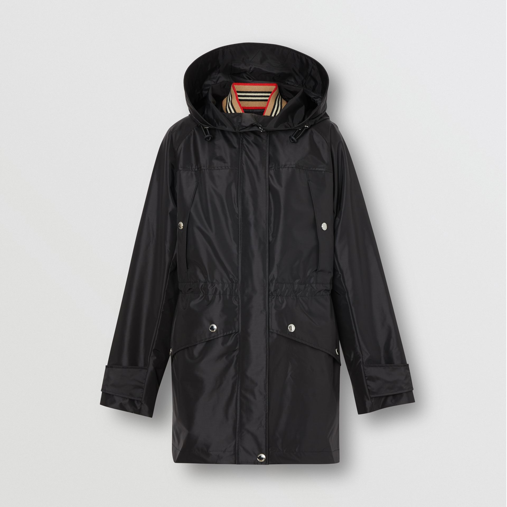 Coated Nylon Hooded Parka with Detachable Gilet in Black - Women | Burberry United States - gallery image 3