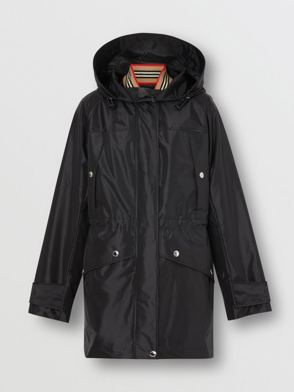 Coated Nylon Hooded Parka with Detachable Gilet in Black - Women | Burberry United States - cell image 3