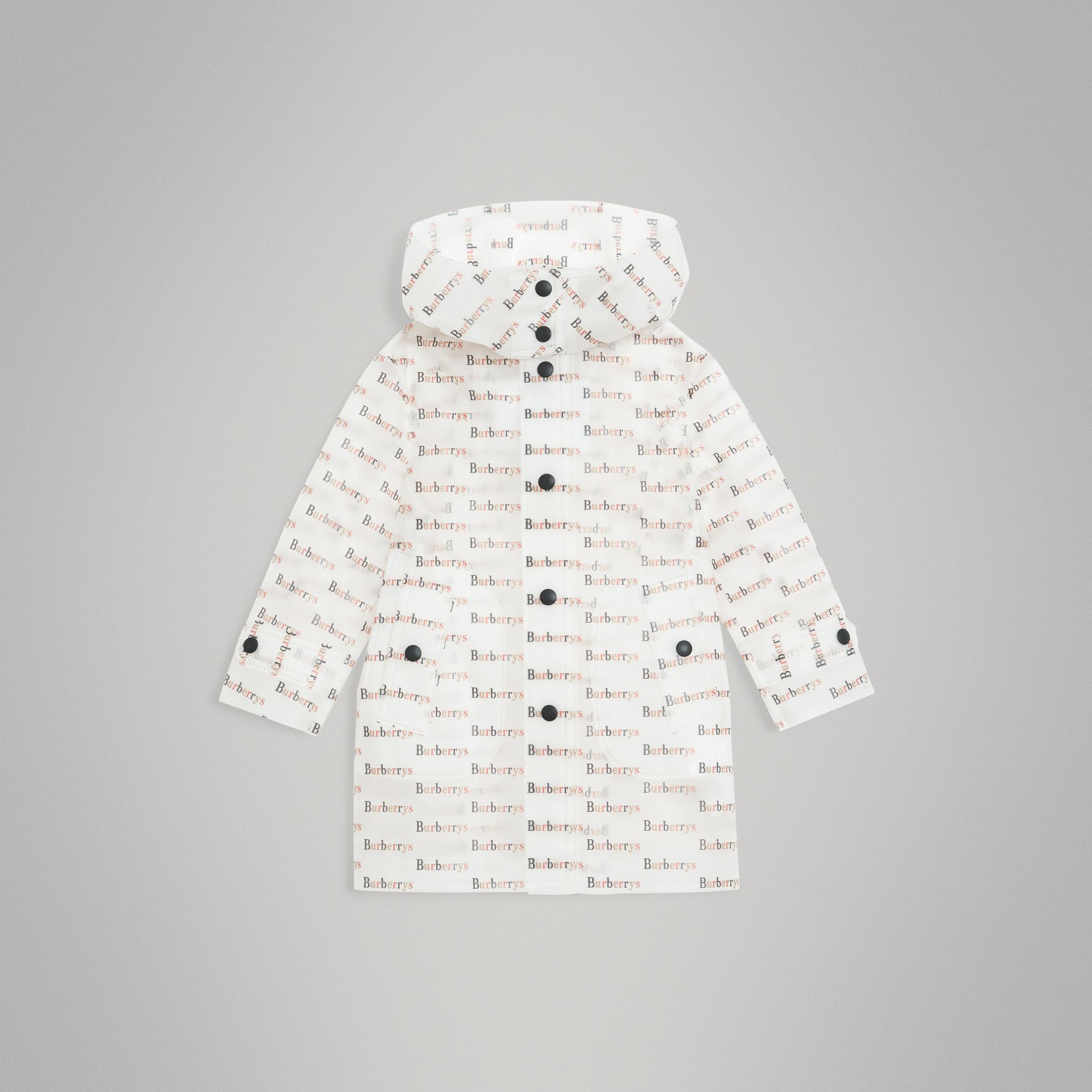 Archive Logo Print Trench Coat in Multicolour - Children | Burberry United States - gallery image 0