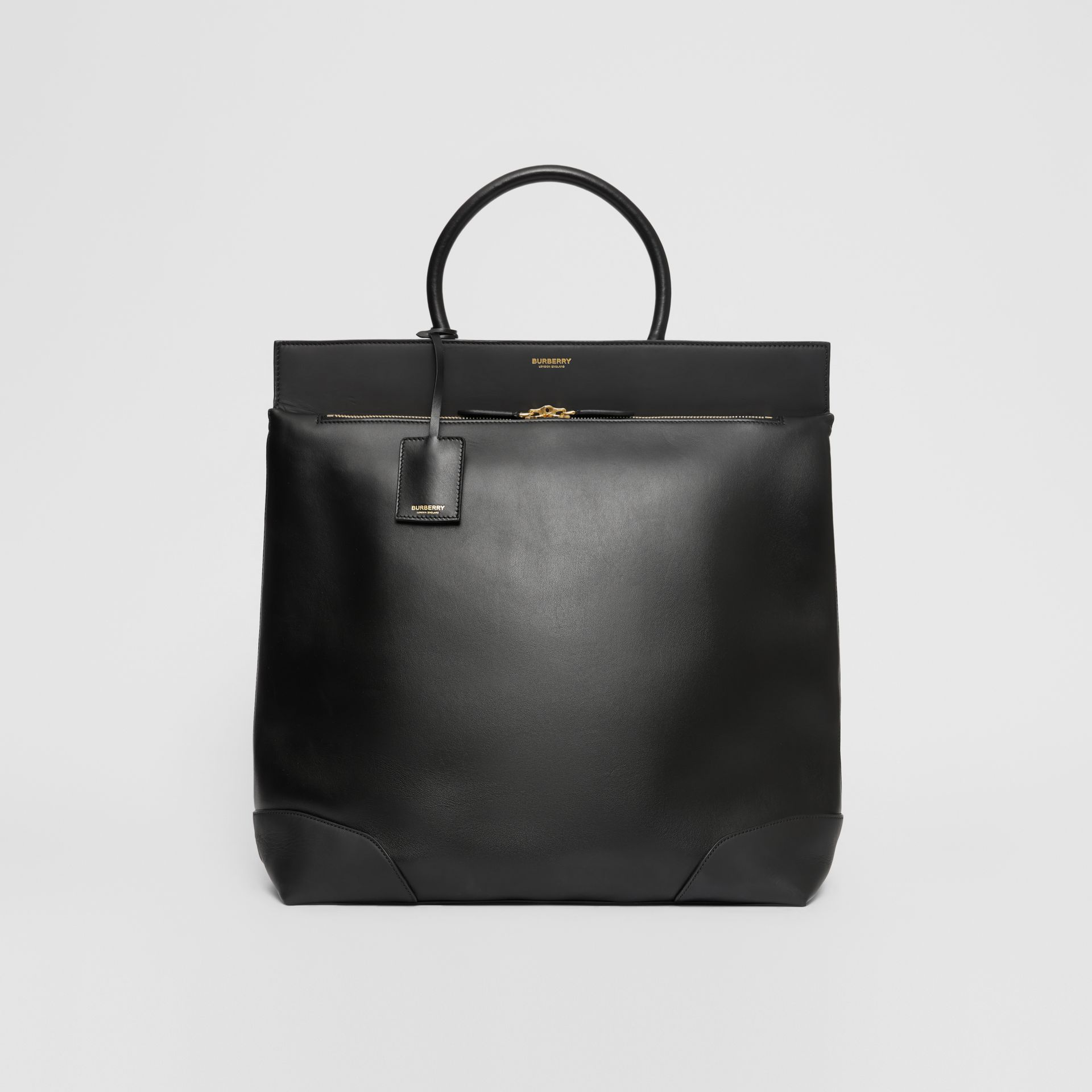 Leather Portrait Society Tote in Black - Men | Burberry United States - gallery image 0