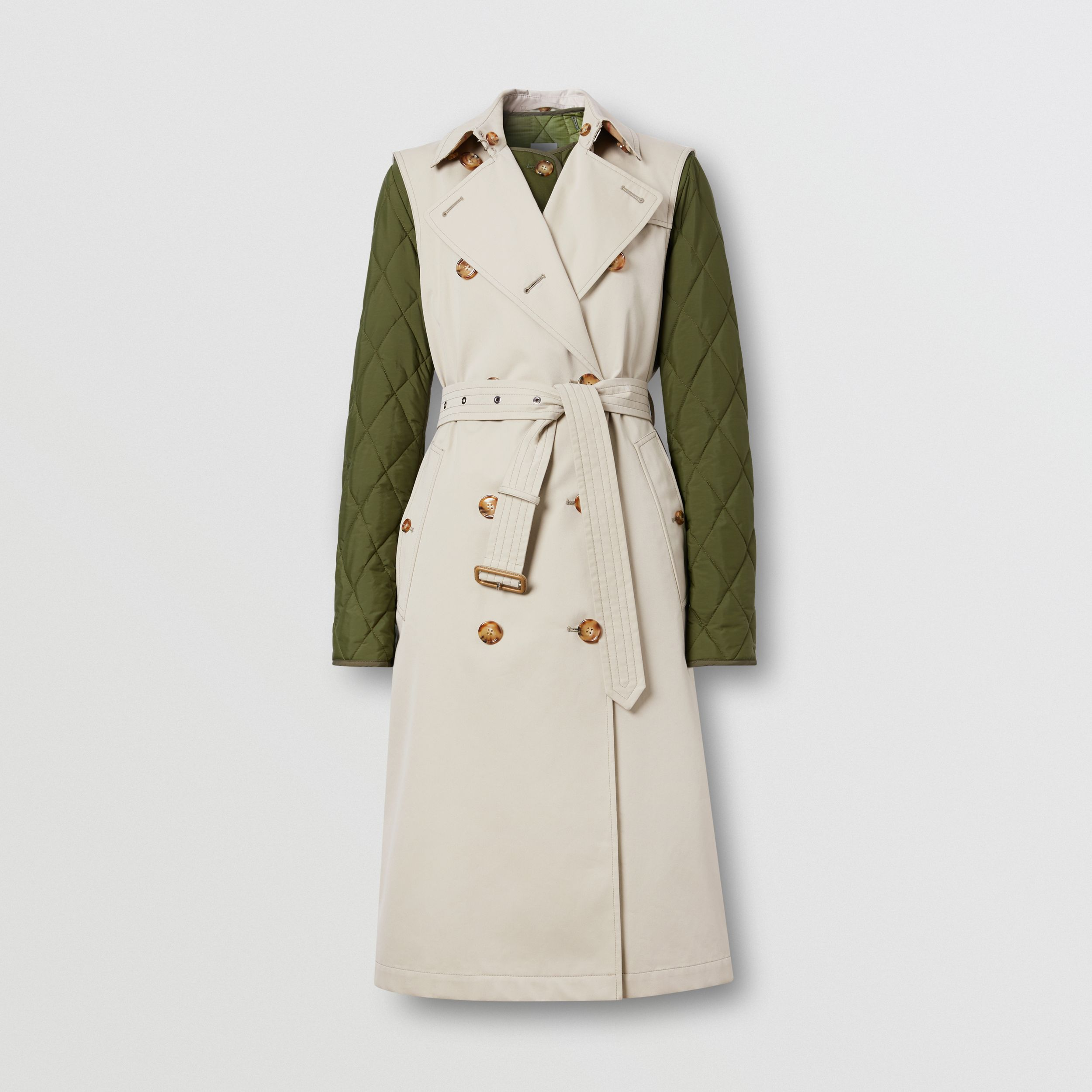 Sleeveless Trench Coat with Detachable Warmer in Stone - Women | Burberry - 4