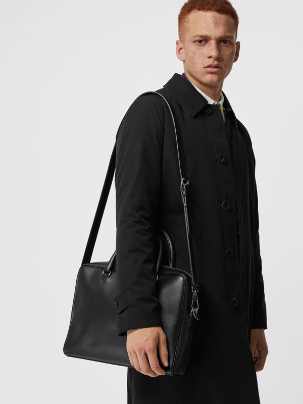 London Leather Briefcase in Black - Men | Burberry Canada - cell image 3