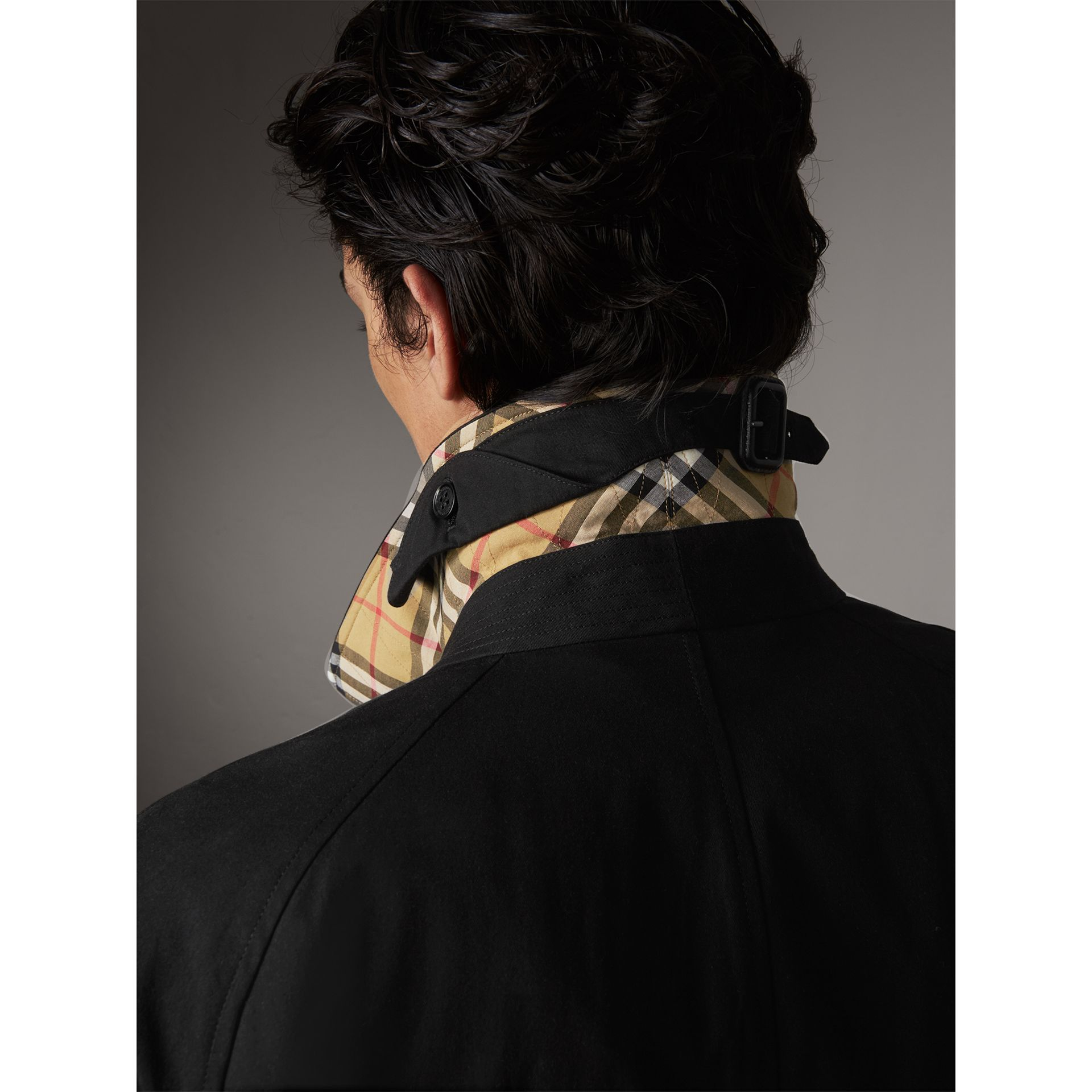 Car Coat The Brighton – Exclusivité en ligne (Noir) - Homme | Burberry - photo de la galerie 1