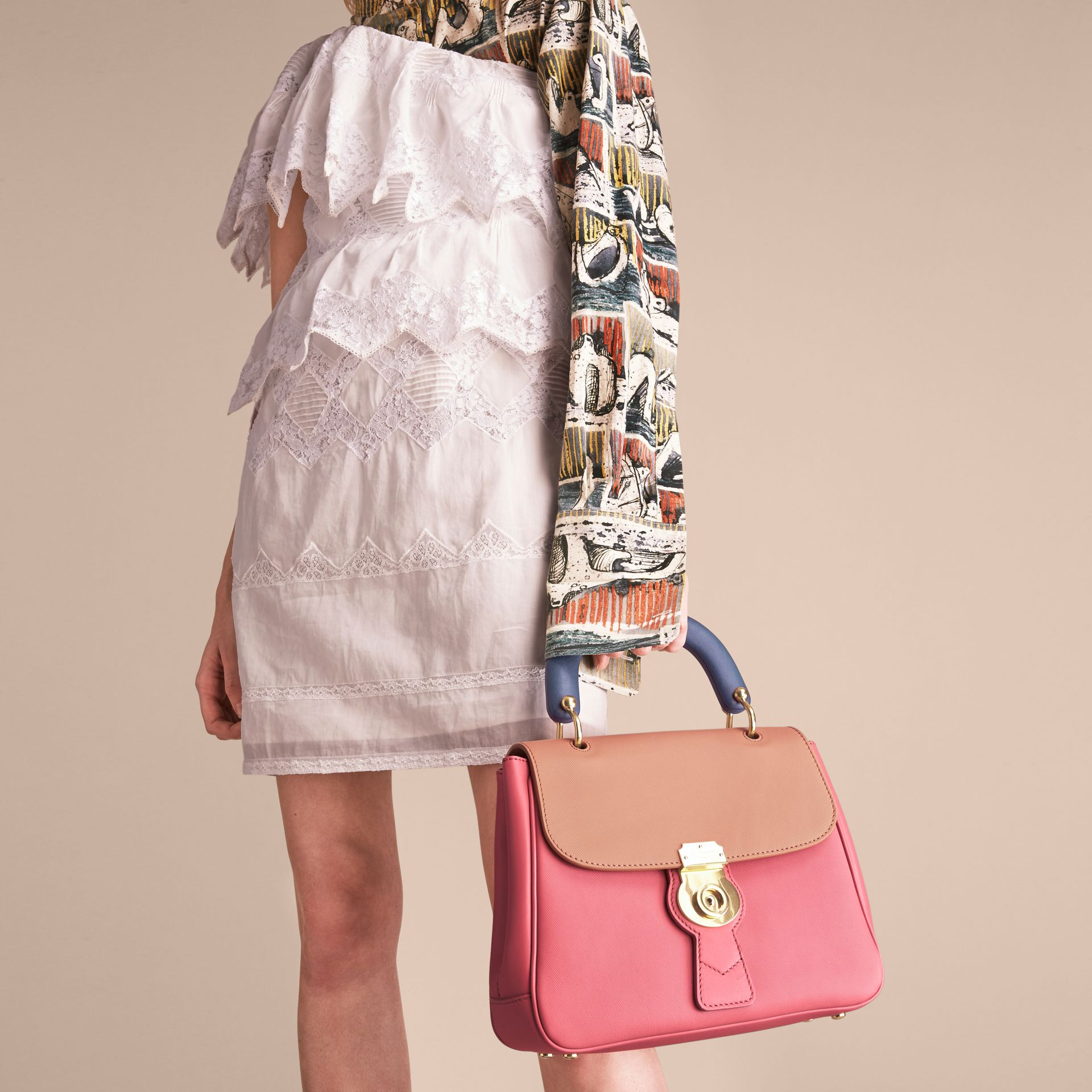 The Medium DK88 Top Handle Bag Blossom Pink/pale Clementine - gallery image 4