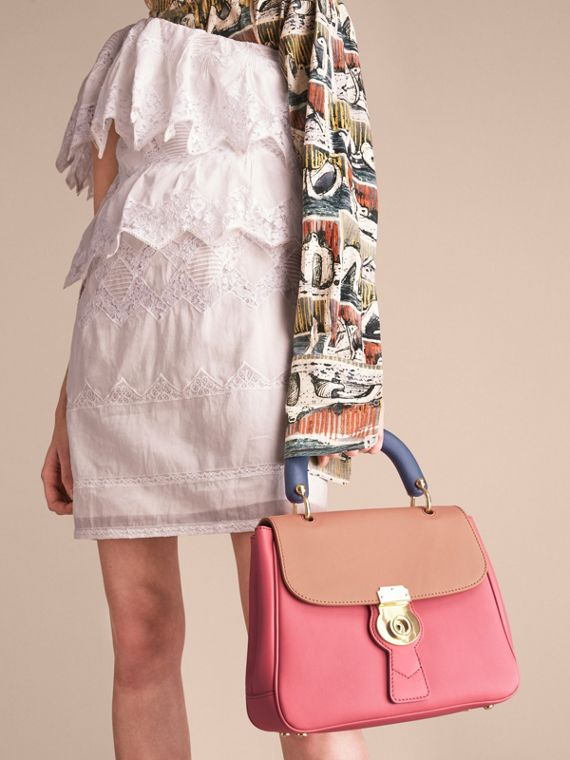 The Medium DK88 Top Handle Bag Blossom Pink/pale Clementine - cell image 3