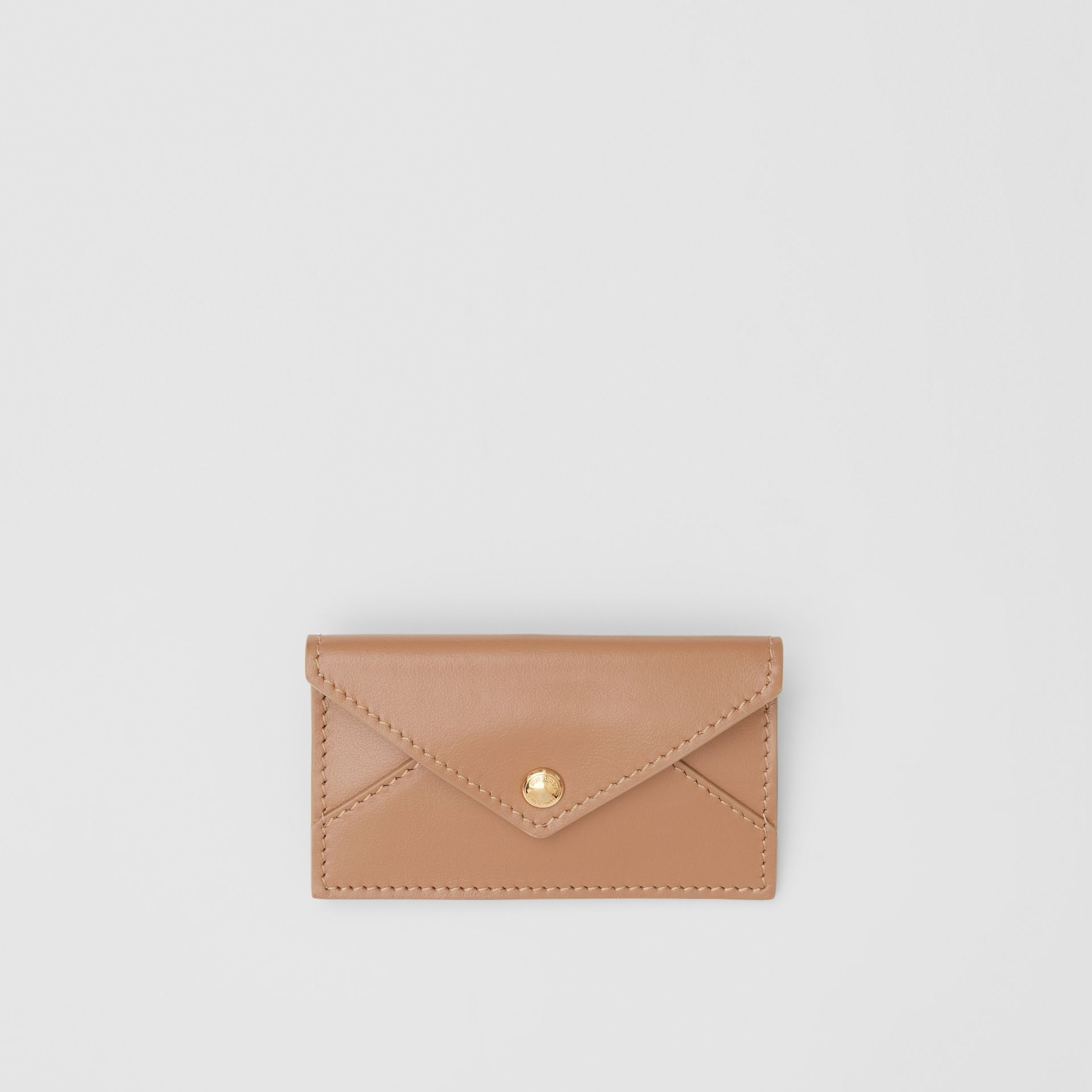 Belted Quilted Lambskin TB Envelope Clutch in Warm Camel - Women | Burberry Canada - gallery image 8