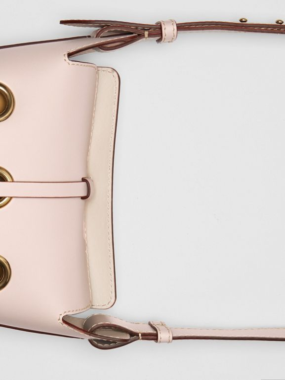 The Mini Bucket Bag in Grommeted Leather in Chalk Pink - Women | Burberry - cell image 1