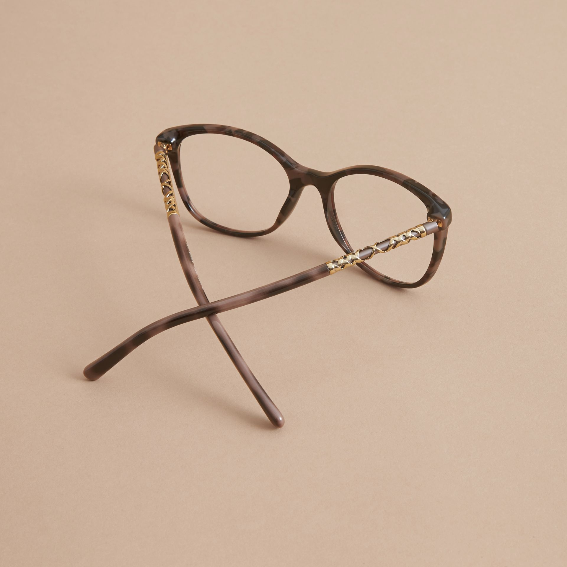 Check Detail Round Optical Frames - gallery image 4