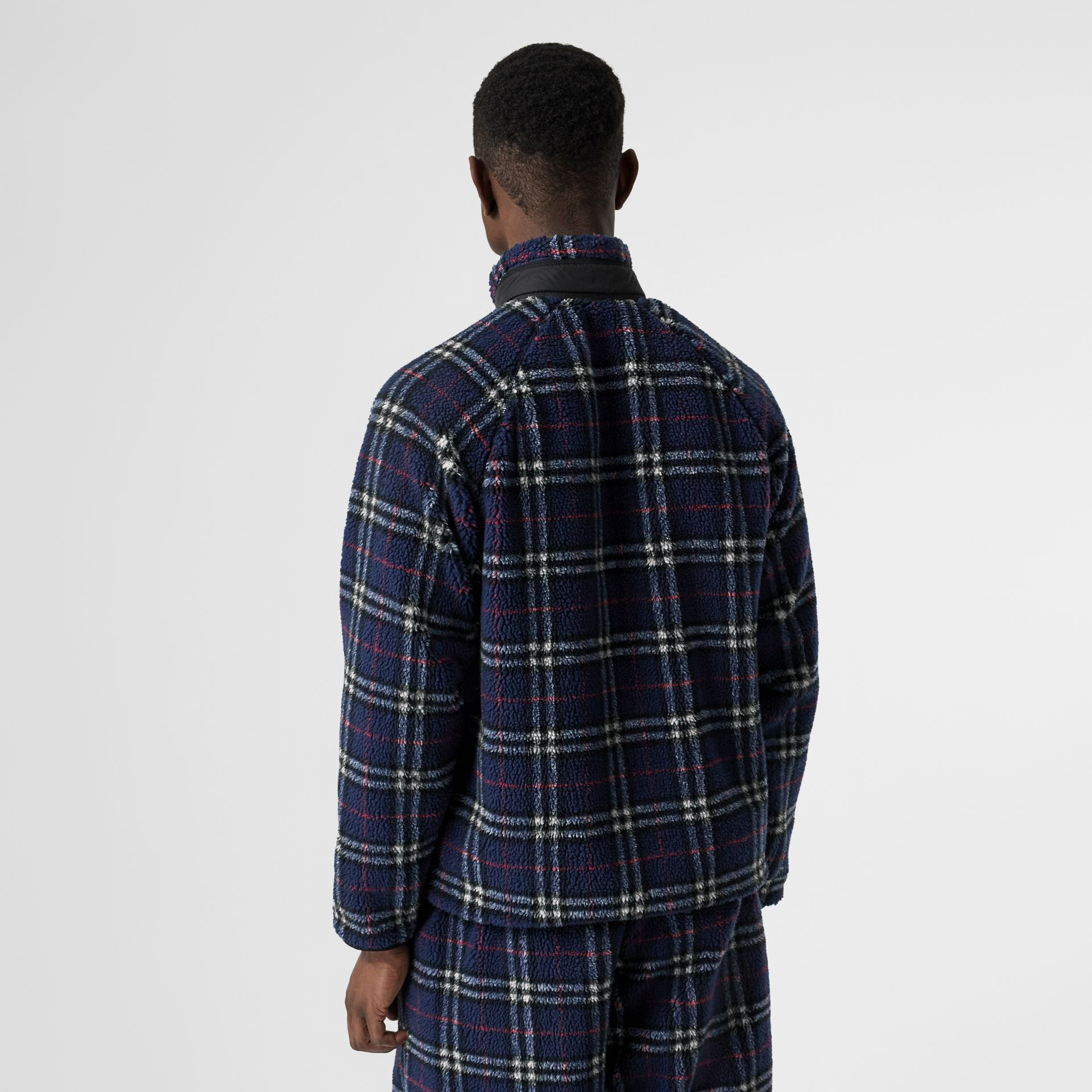 Vintage Check Faux Shearling Jacket in Navy - Men | Burberry United Kingdom - gallery image 2