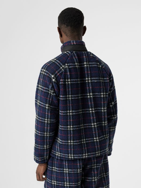 Vintage Check Faux Shearling Jacket in Navy - Men | Burberry United Kingdom - cell image 2