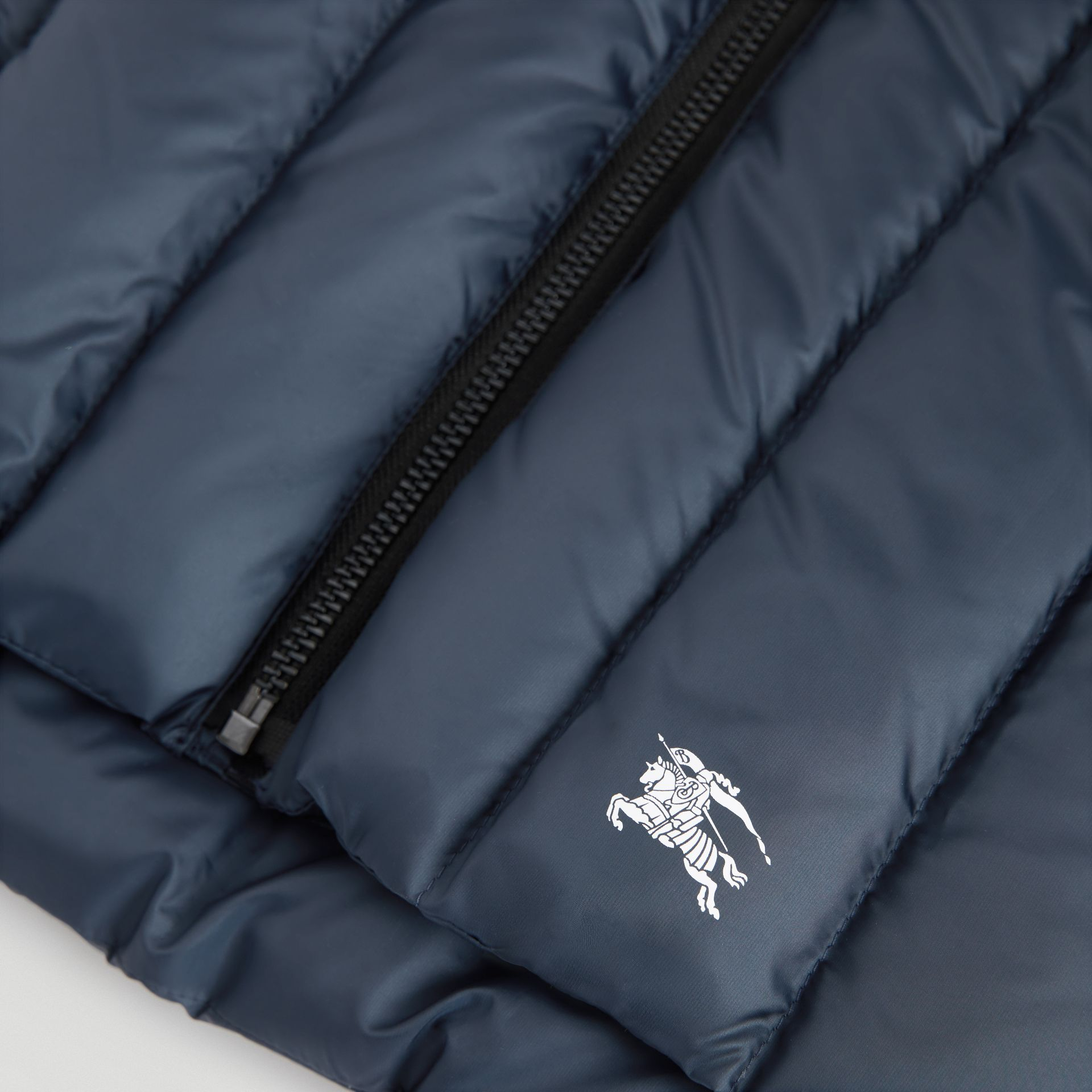 Detachable Hood Down-filled Gilet in Navy | Burberry - gallery image 1
