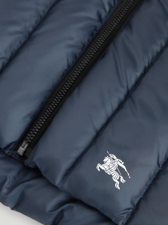 Detachable Hood Down-filled Gilet in Navy | Burberry - cell image 1