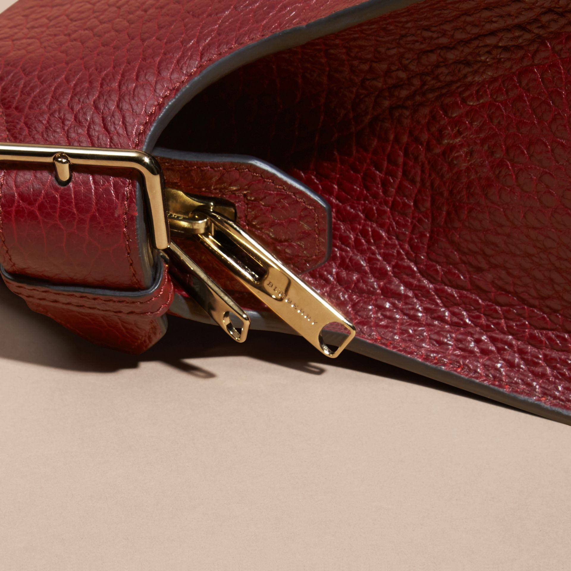 Deep red The Medium Clifton in Signature Grain Leather - gallery image 7