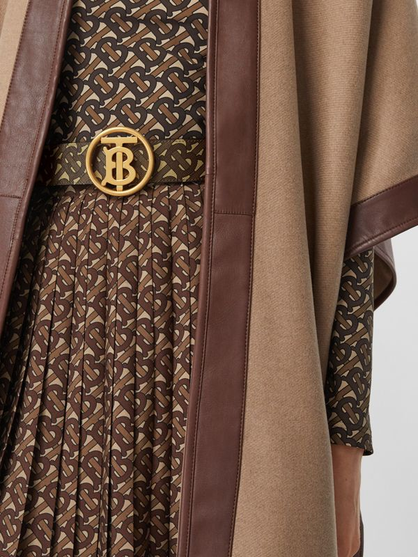 Monogram Motif Monogram Print E-canvas Belt in Bridle Brown - Women | Burberry United Kingdom - cell image 2