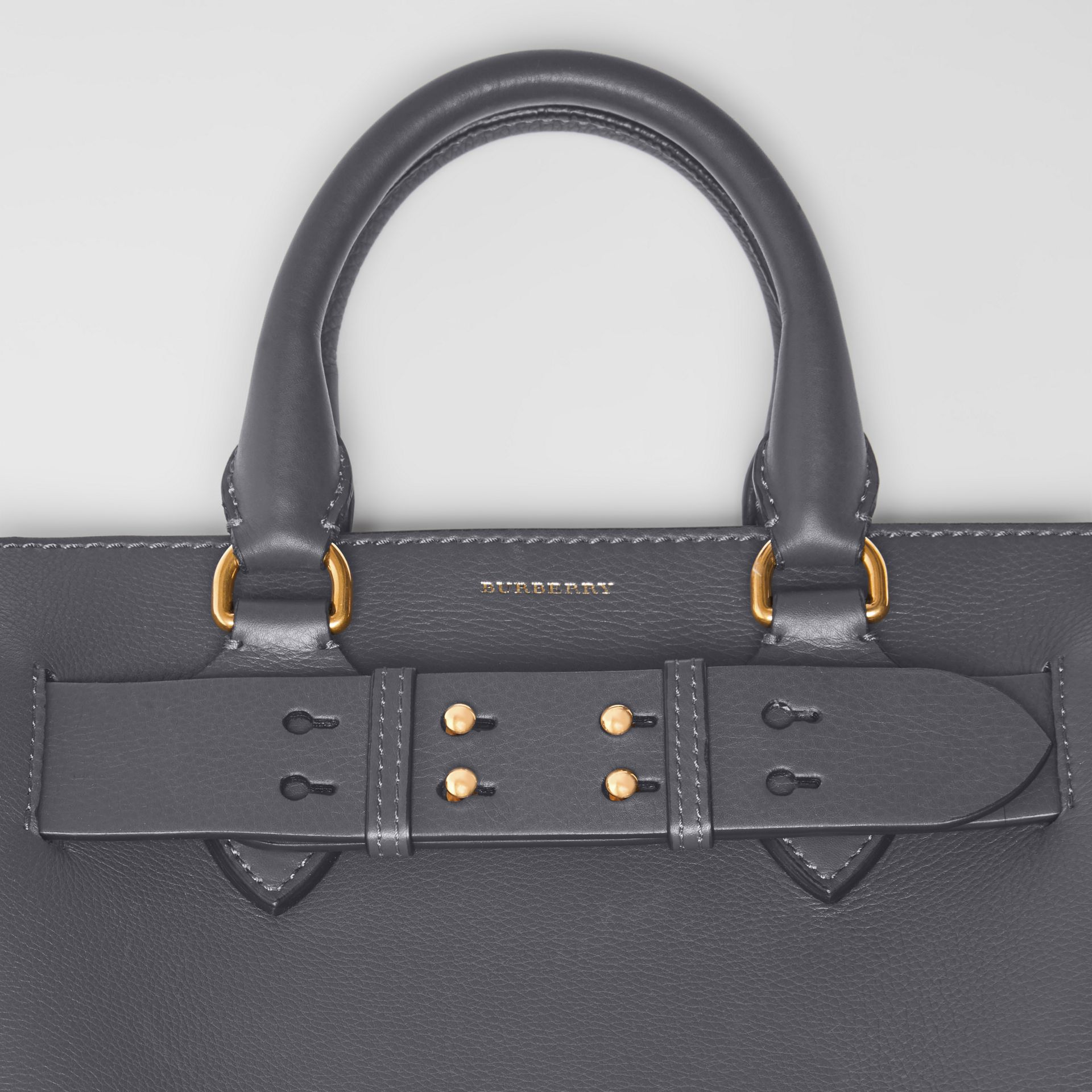 The Small Leather Belt Bag in Charcoal Grey - Women | Burberry Singapore - gallery image 1