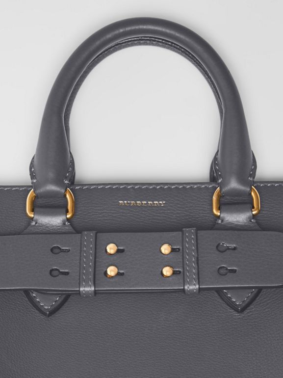 The Small Leather Belt Bag in Charcoal Grey - Women | Burberry Singapore - cell image 1
