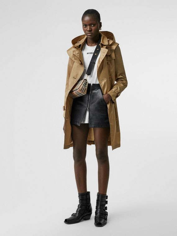 Detachable Hood ECONYL® Trench Coat in Honey