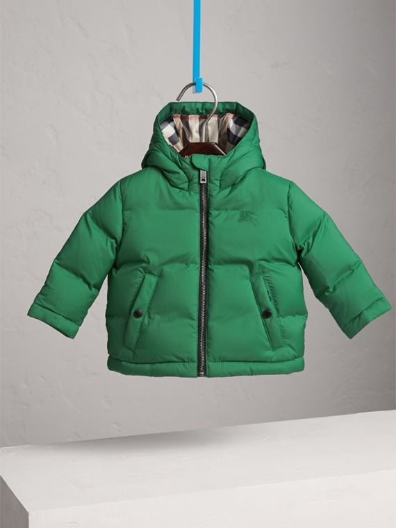Down-filled Hooded Puffer Jacket in Pigment Green | Burberry Australia - cell image 2