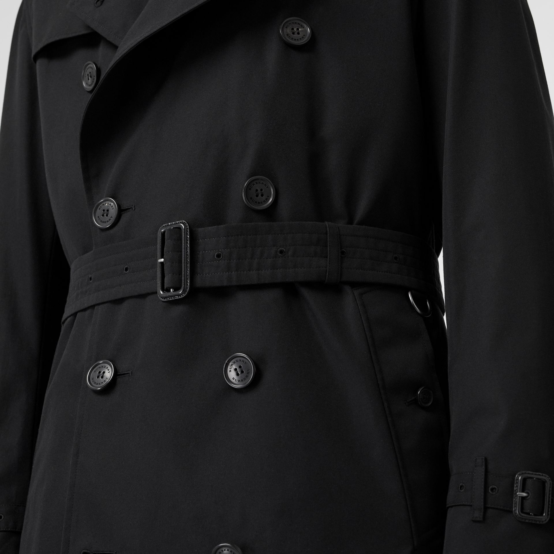 The Kensington Heritage Trench Coat in Black | Burberry Australia - gallery image 4