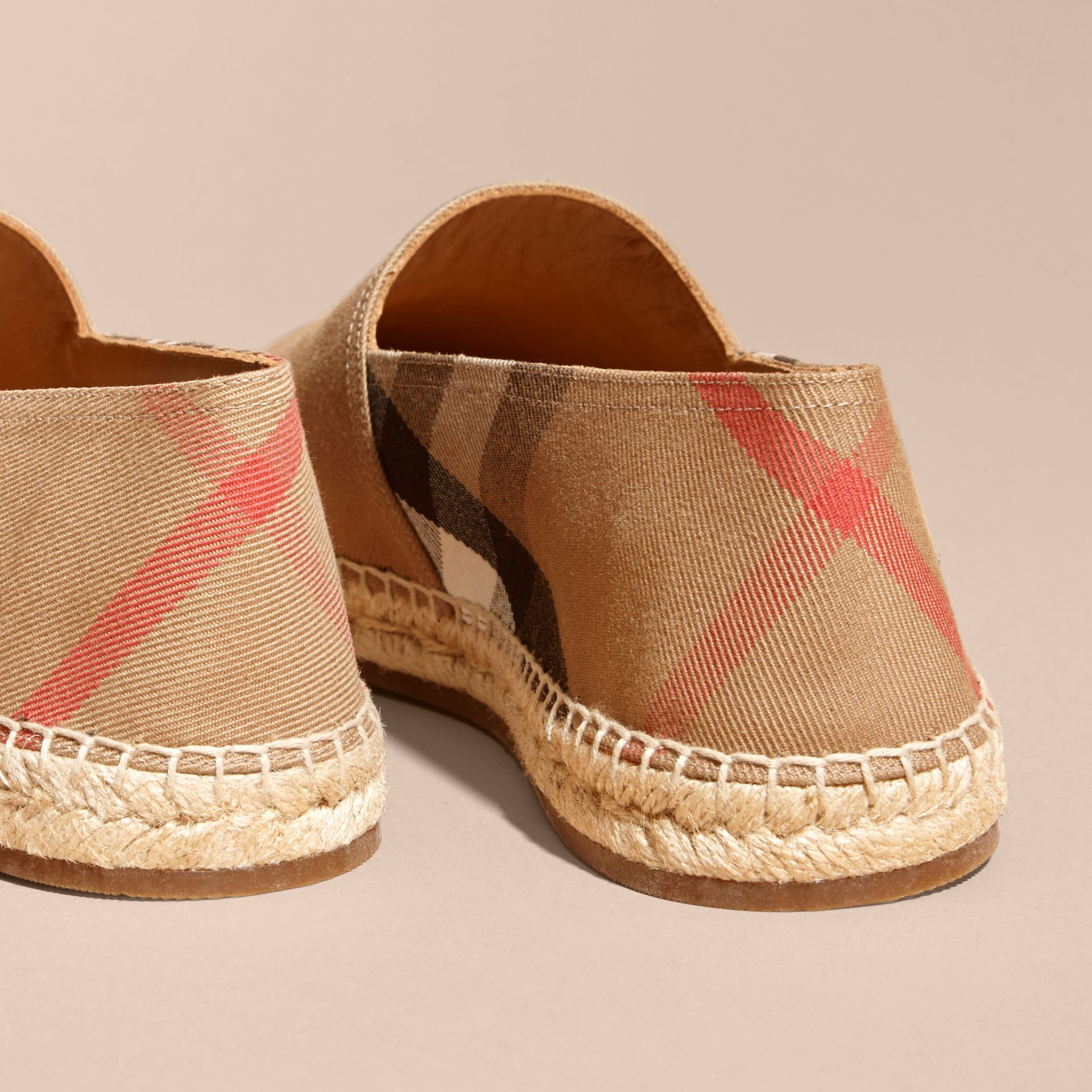 Canvas Check Espadrilles in Classic - Men | Burberry - gallery image 4
