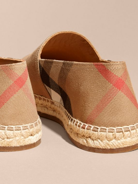 Canvas Check Espadrilles - Men | Burberry - cell image 3