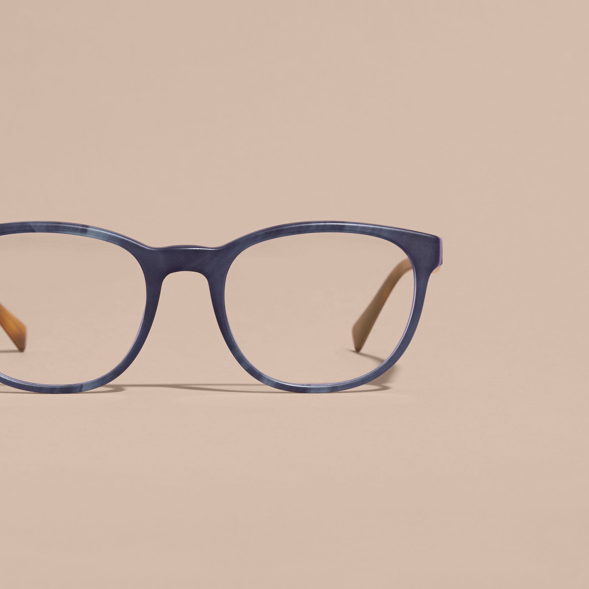 Square Optical Frames Deep Blue - gallery image 3