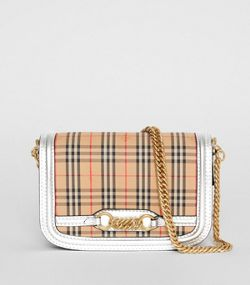 86c7445de4 The 1983 Check Link Bag with Leather Trim in Silver