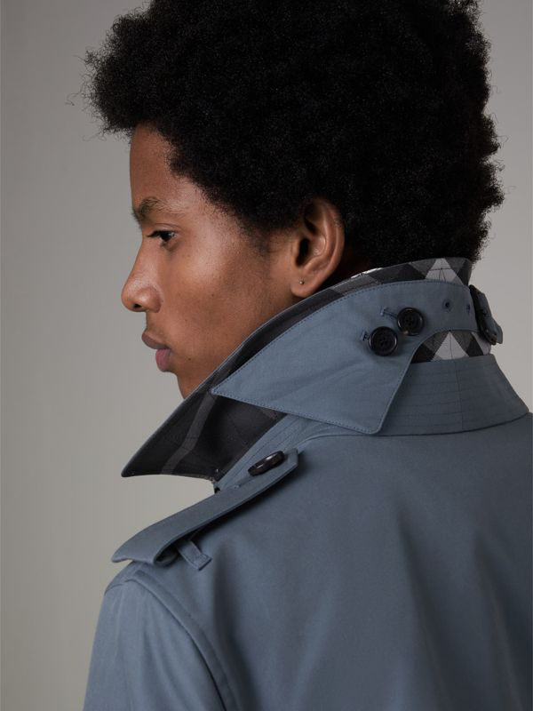 Cotton Gabardine Trench Coat in Empire Blue - Men | Burberry - cell image 3