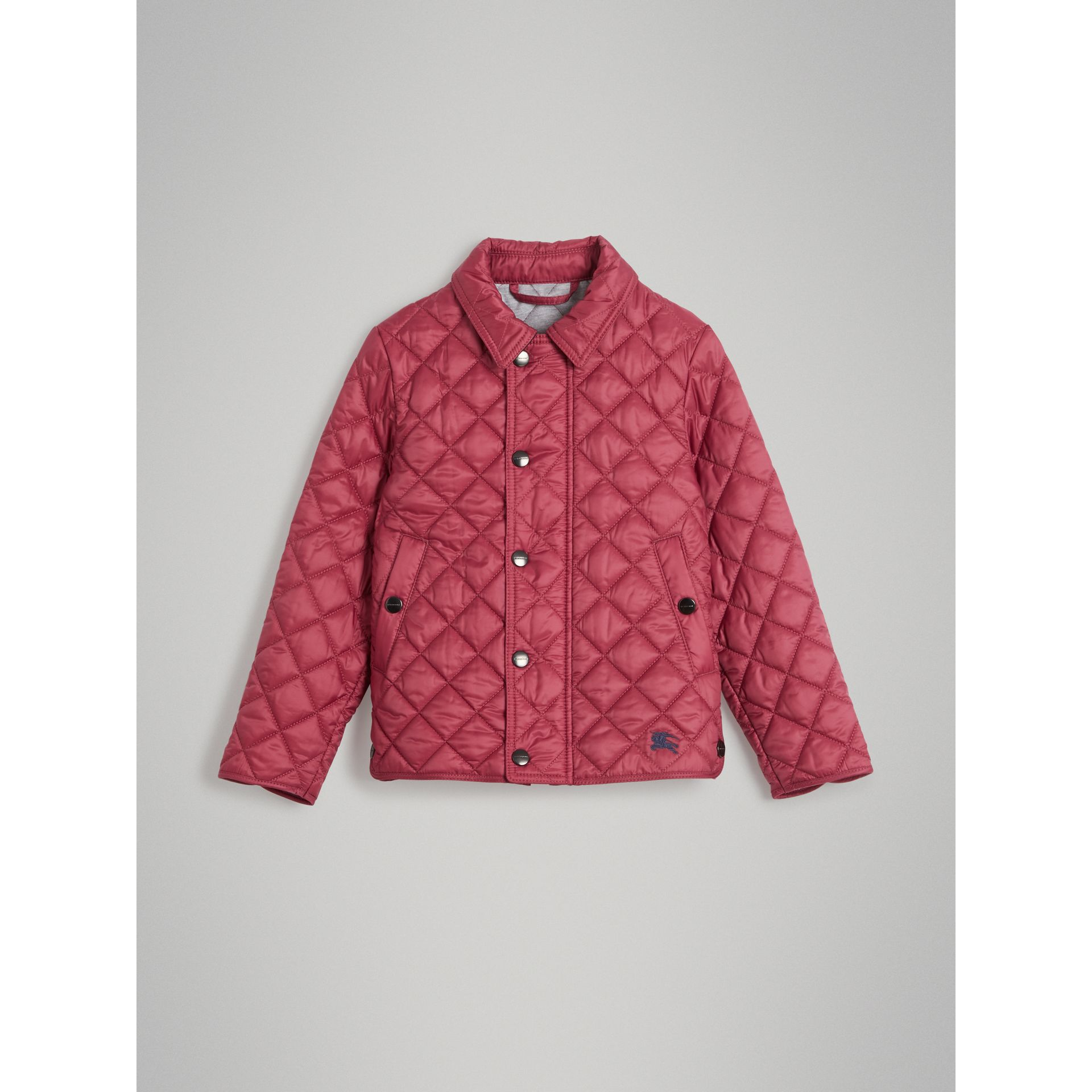Lightweight Diamond Quilted Jacket in Peony Rose - Girl | Burberry - gallery image 0