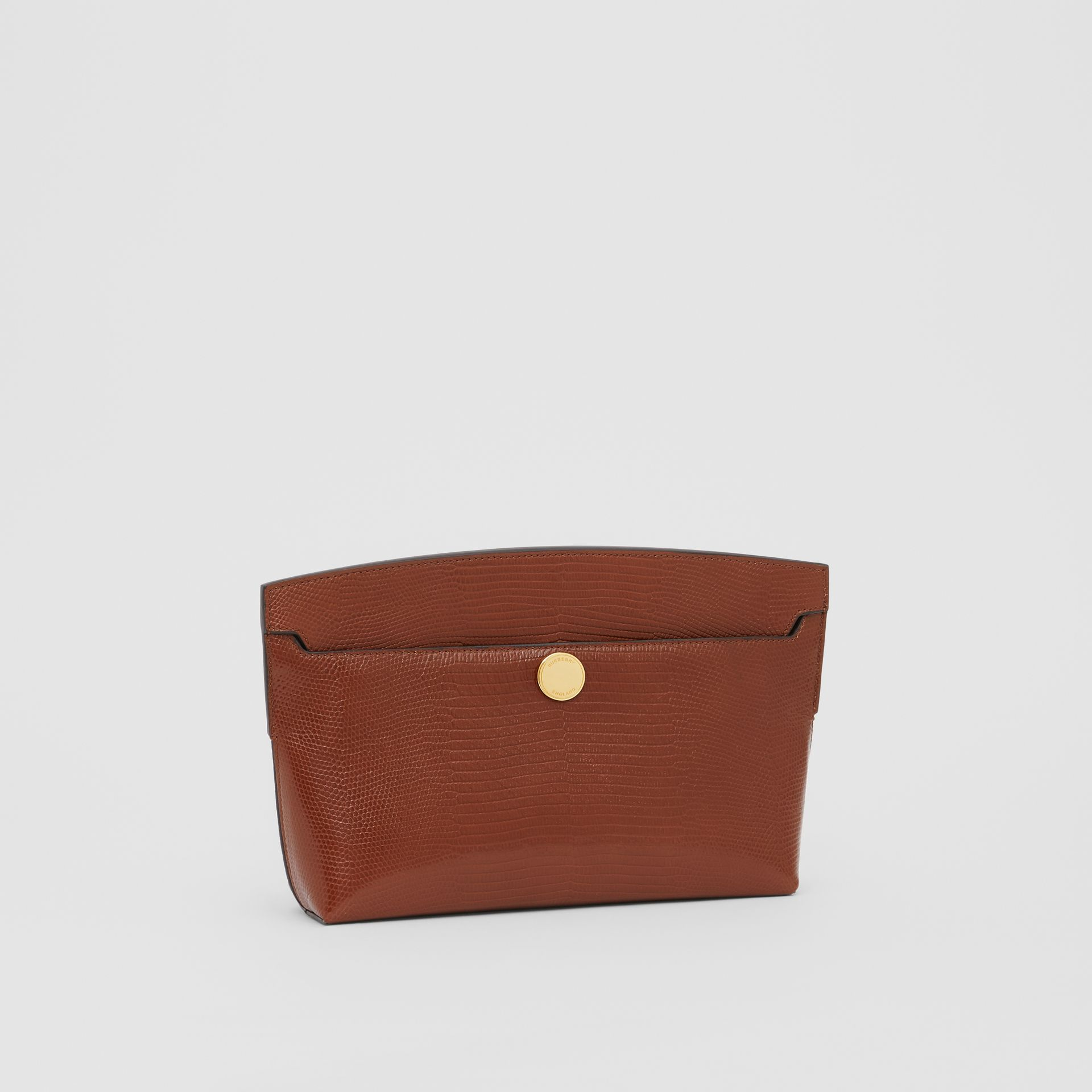 Embossed Deerskin Society Clutch in Tan - Women | Burberry - gallery image 4