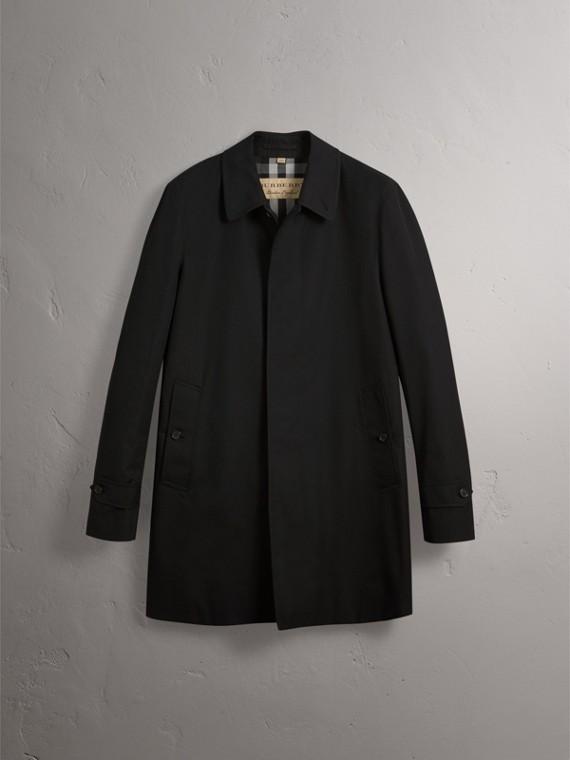 Cotton Gabardine Car Coat in Black - Men | Burberry - cell image 3