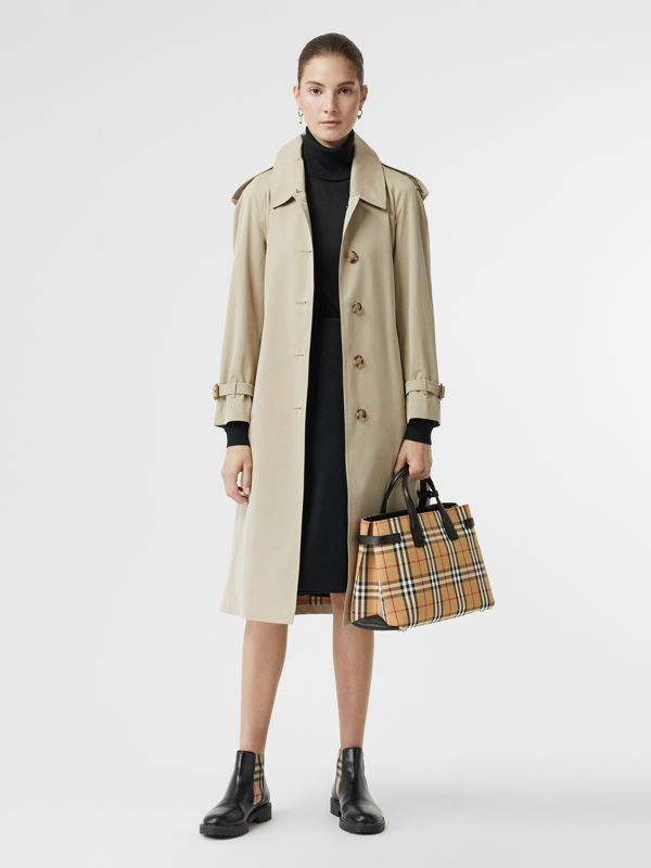 The Medium Banner in Vintage Check and Leather in Black - Women | Burberry United Kingdom - cell image 2