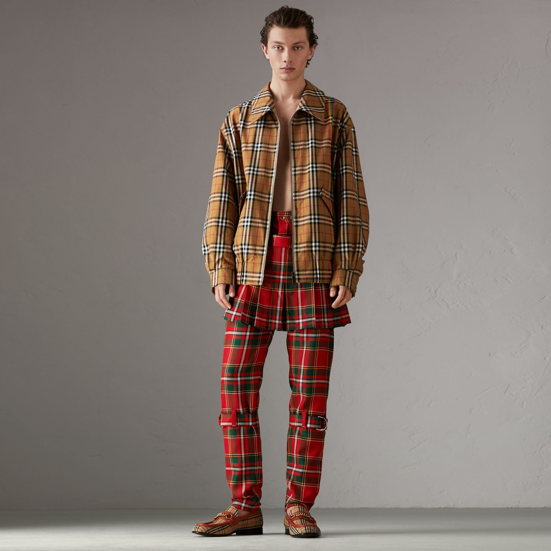 Rainbow Vintage Check Harrington Jacket in Antique Yellow/rainbow - Men | Burberry United Kingdom - gallery image 0