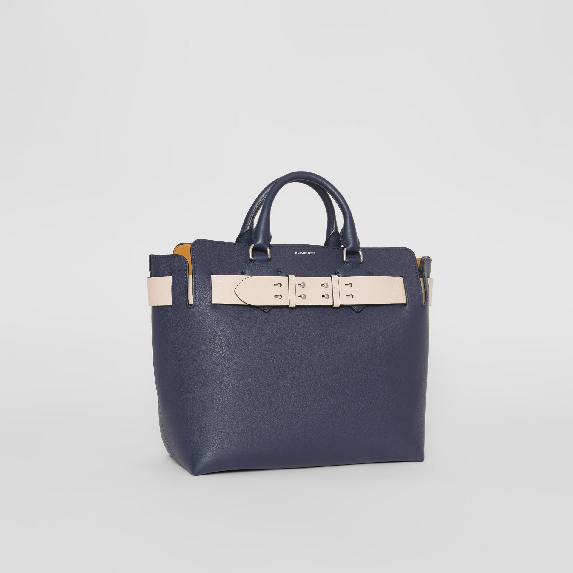 The Medium Leather Belt Bag in Regency Blue - Women | Burberry United Kingdom - gallery image 6