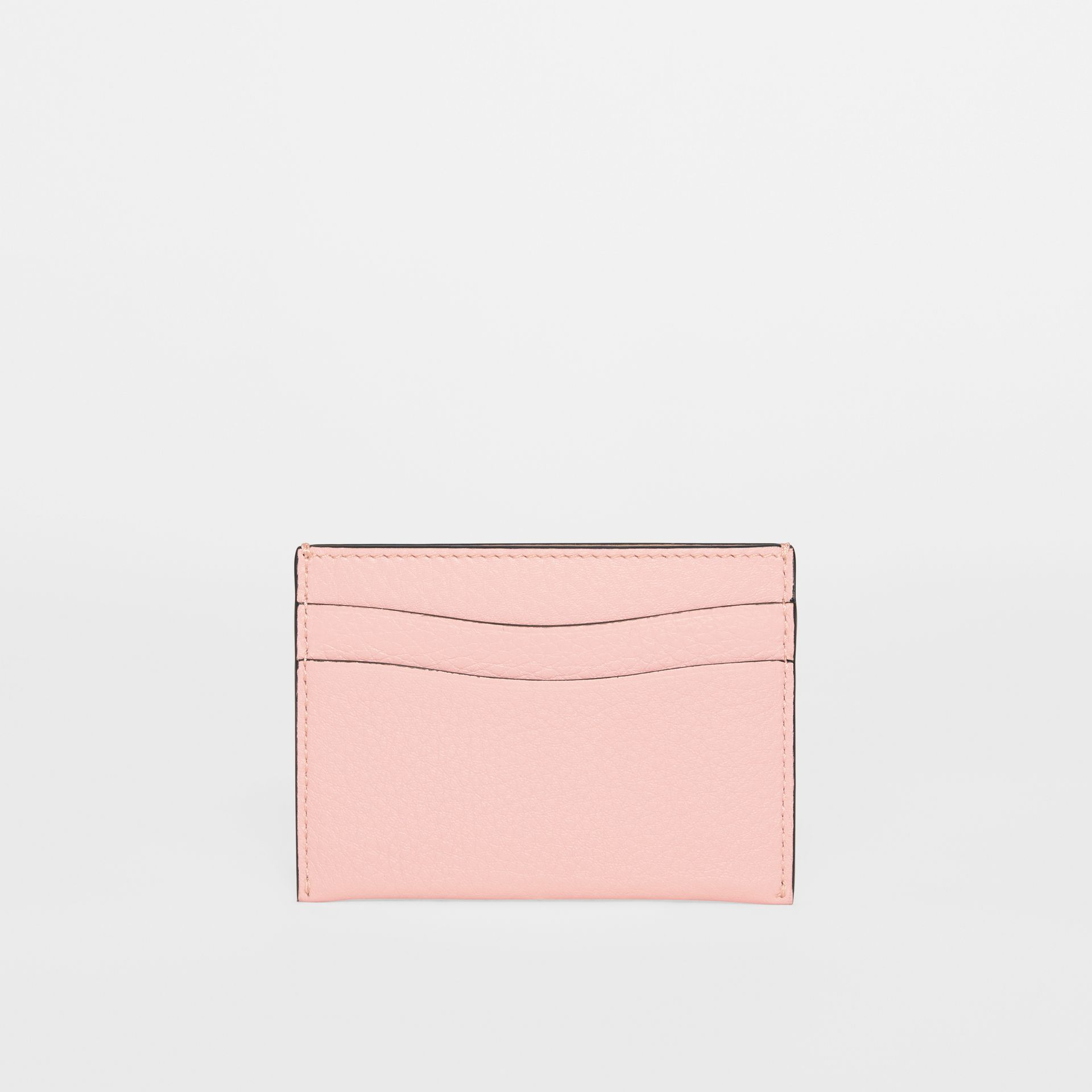 Grainy Leather Card Case in Pale Ash Rose - Women | Burberry - gallery image 4