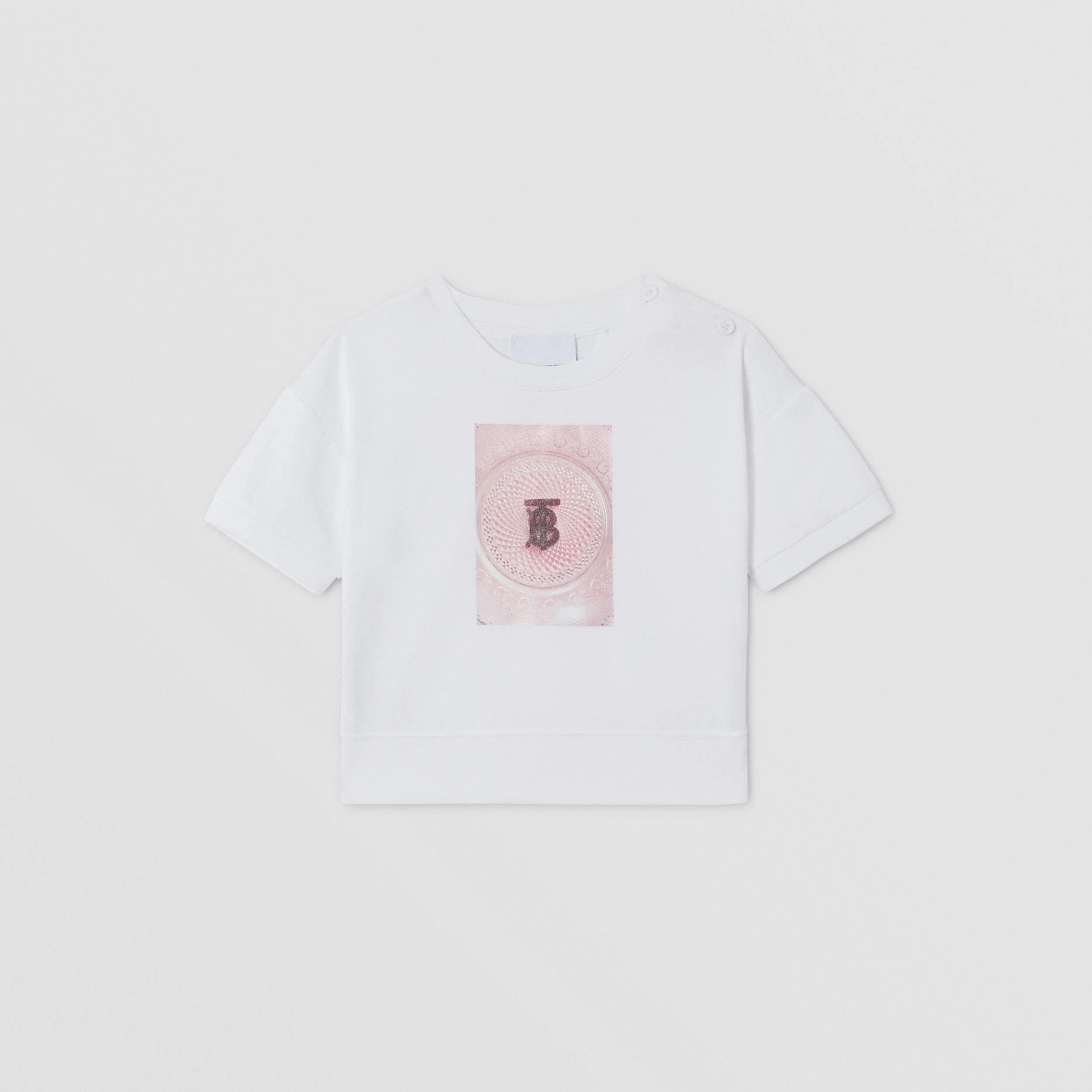 Confectionery Print Cotton T-shirt in White - Children | Burberry Australia - 1