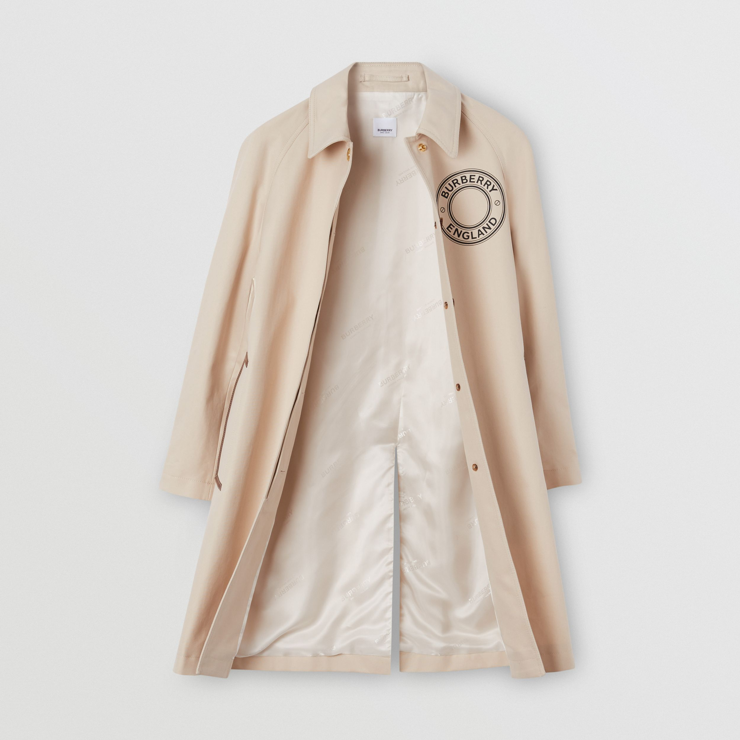 Logo Graphic Cotton Canvas Car Coat - Women | Burberry Canada - 2