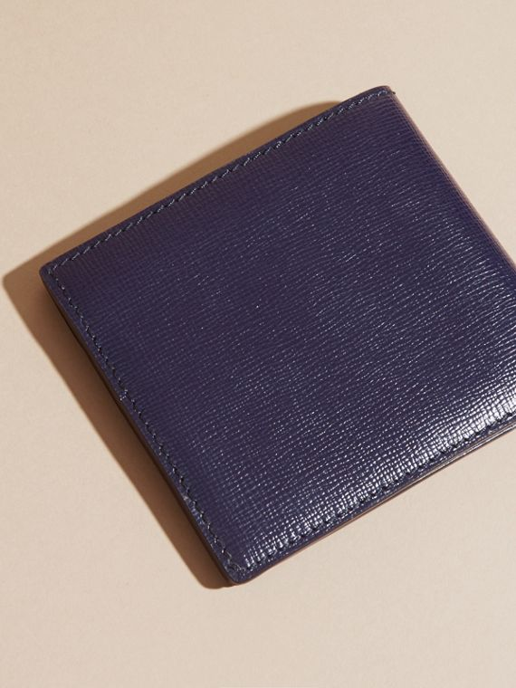 London Leather Folding Wallet Dark Navy - cell image 2